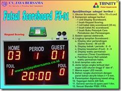 papan skor futsal, scoreboard digital futsal, papan nilai futsal