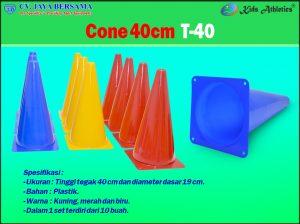 atletik kid, atletik kit, cone, cone atletik, cones dak, cones poa, kids athletics, marker, peralatan olahraga anak, poa, segitiga plastik, cones 40 cm, sport kid